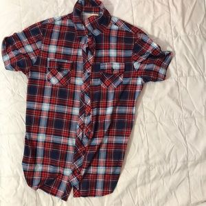 Bella D short sleeve flannel